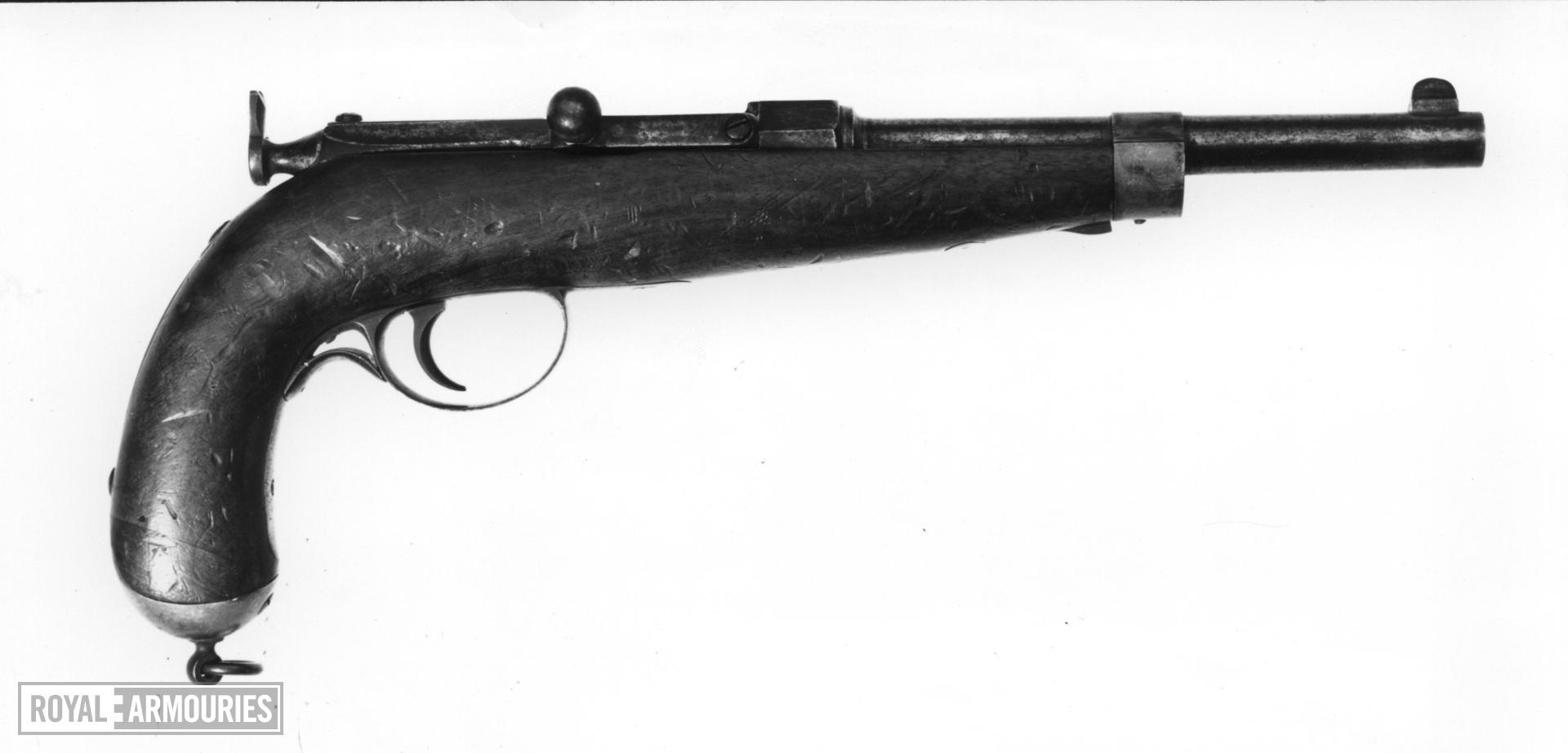 Centrefire bolt-action military pistol - Berdan Patent