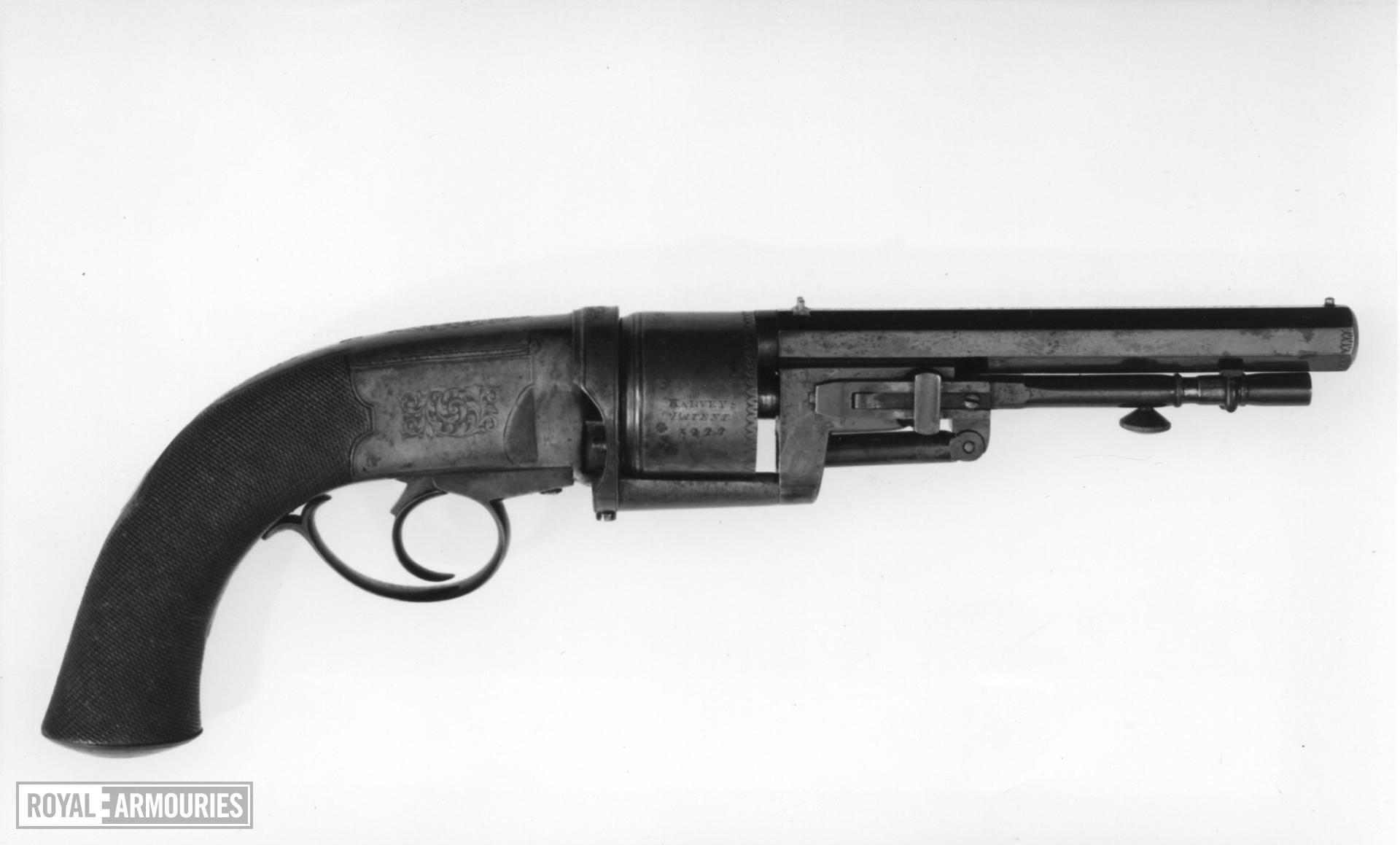 Percussion six-shot revolver - Harvey's Patent