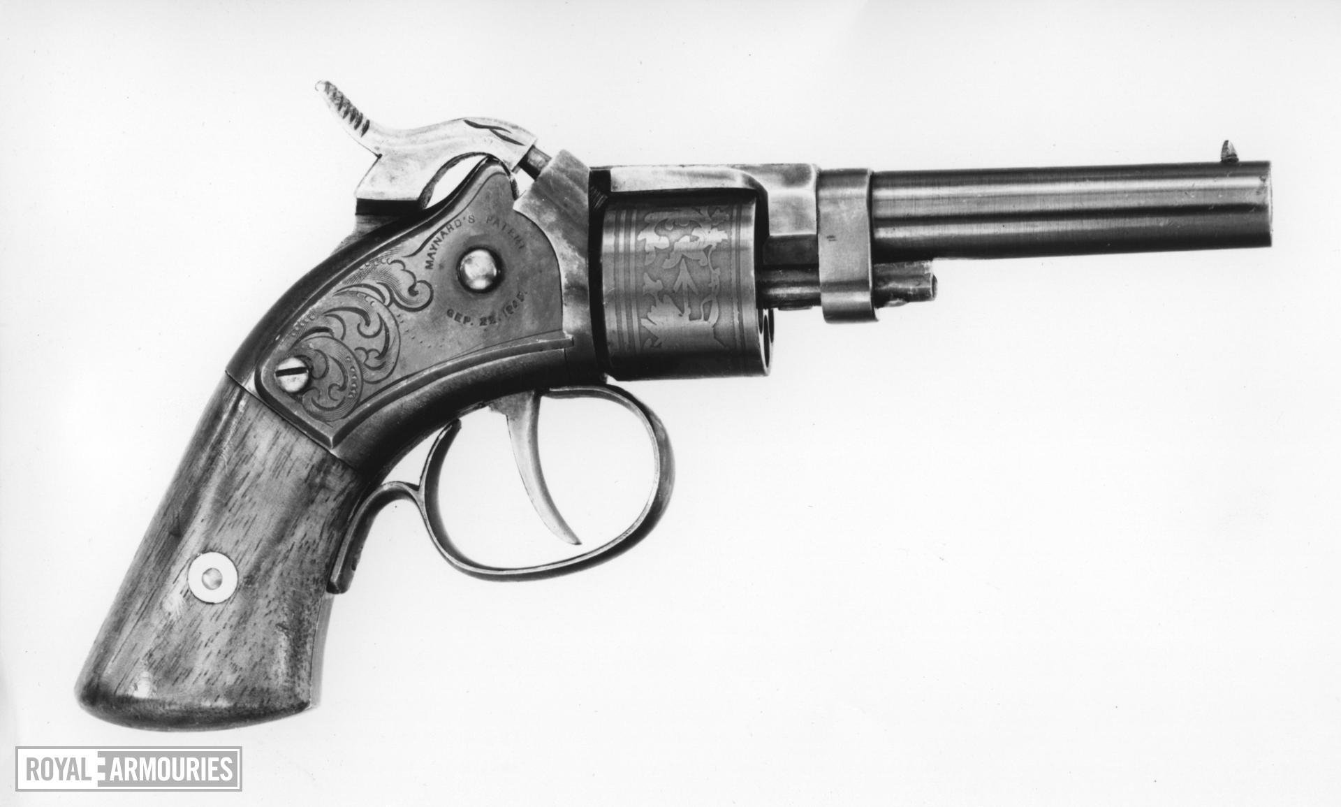 Percussion six-shot revolver - Maynard Patent