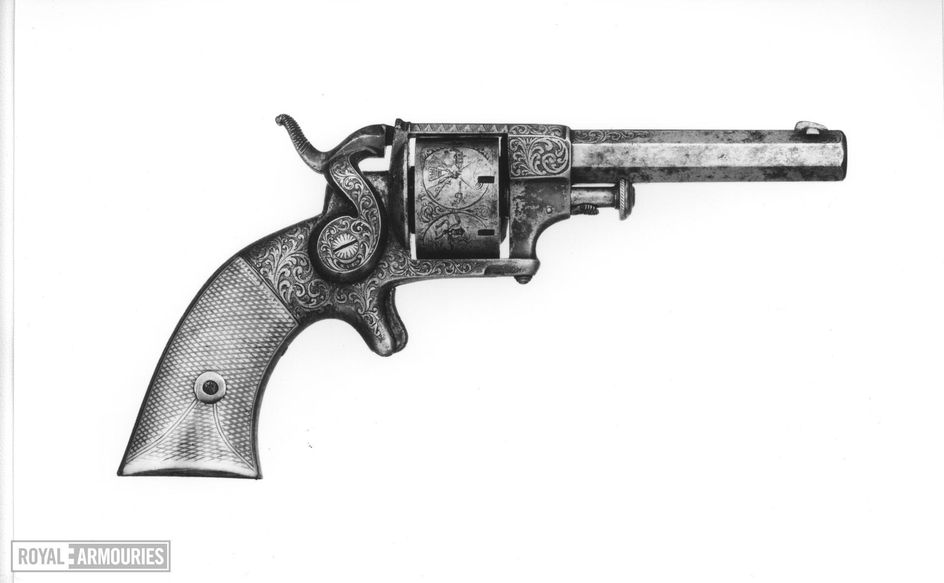 Rimfire seven-shot revolver - Allen Pattern 1858 By Allen & Wheelock