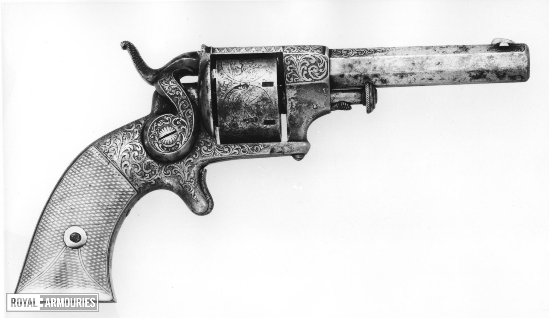 Rimfire seven-shot revolver - Allen Pattern 1858