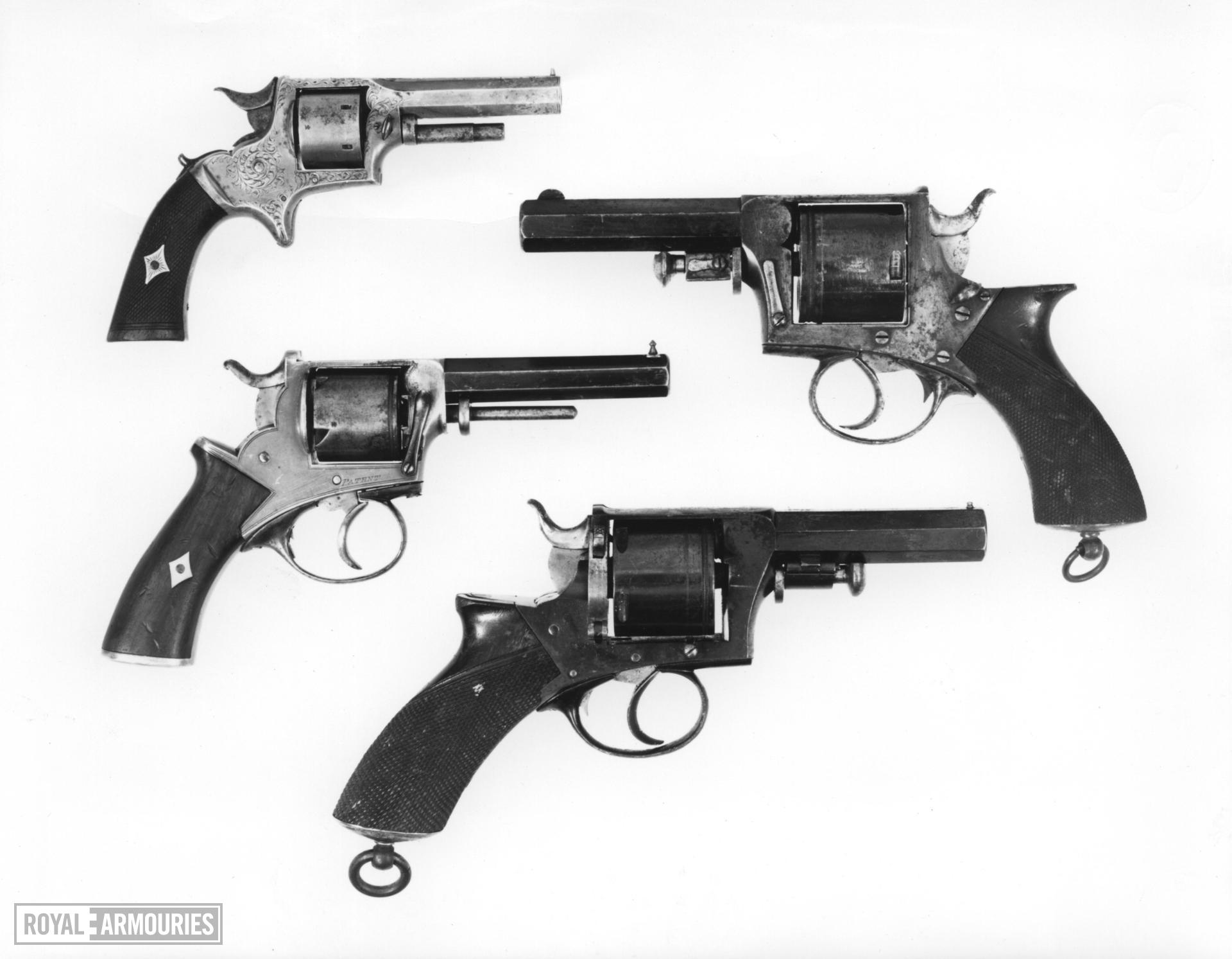 Centrefire five-shot revolver - Rod Ejecting type