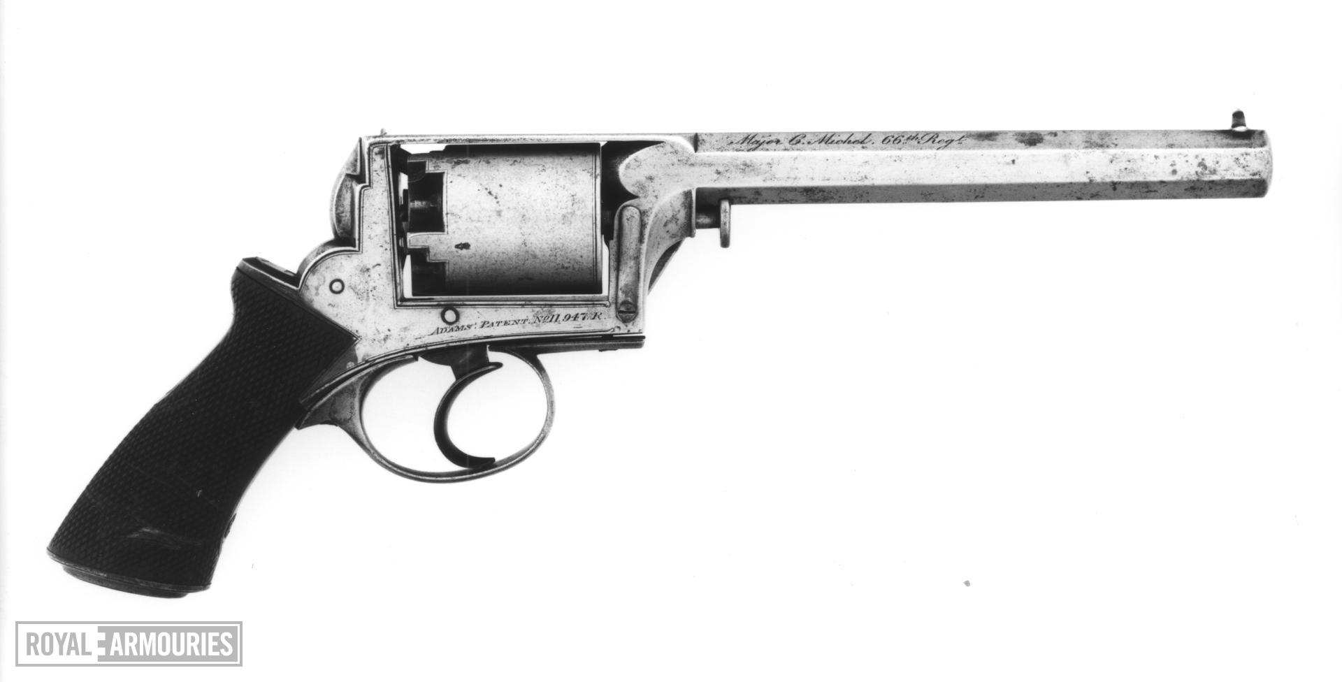 Percussion five-shot revolver - Adams Model 1851 Retailed by Deane Adams and Deane, King William St. London