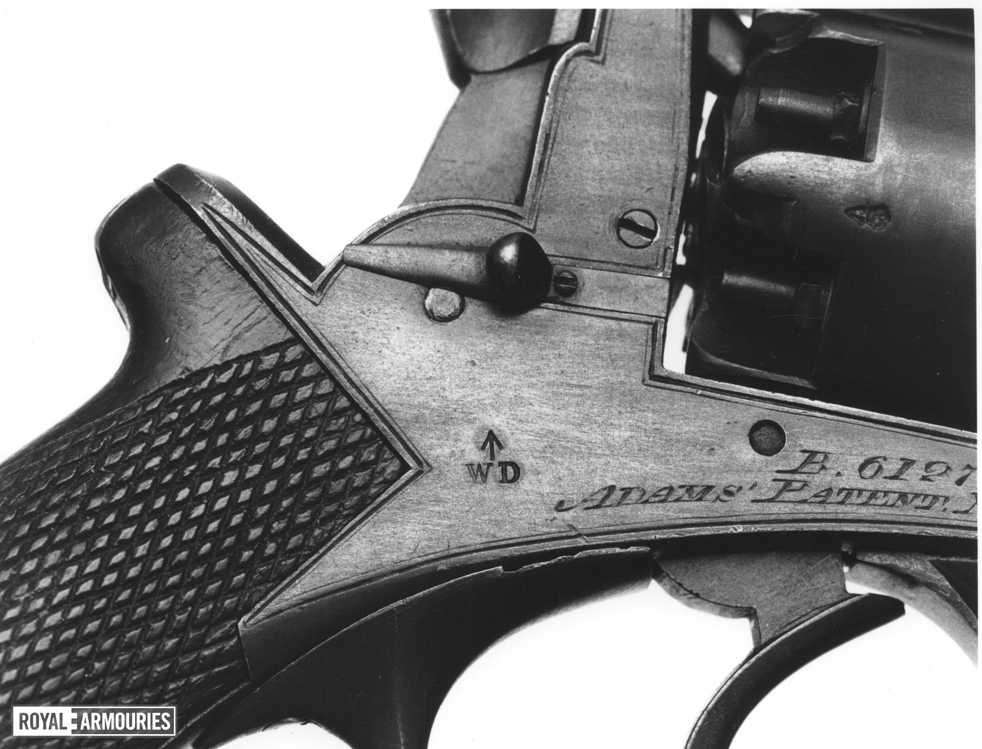 Percussion five-shot military revolver - Beaumont Adams With military acceptance marks on the frame