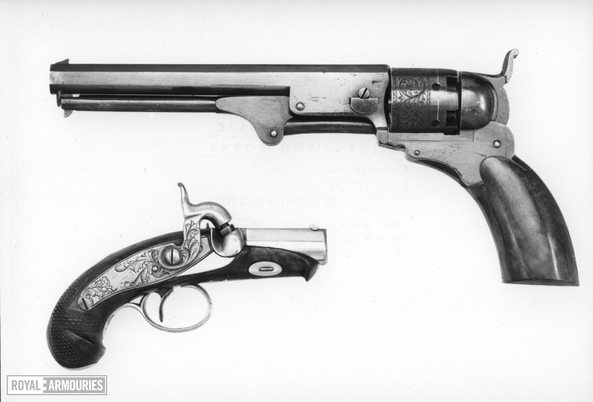 Percussion five-shot revolver - Paterson Texas type A copy of the Colt Paterson revolver