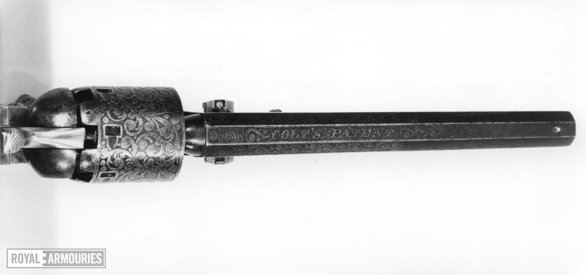 Percussion six-shot revolver - Colt Navy Model 1851 copy