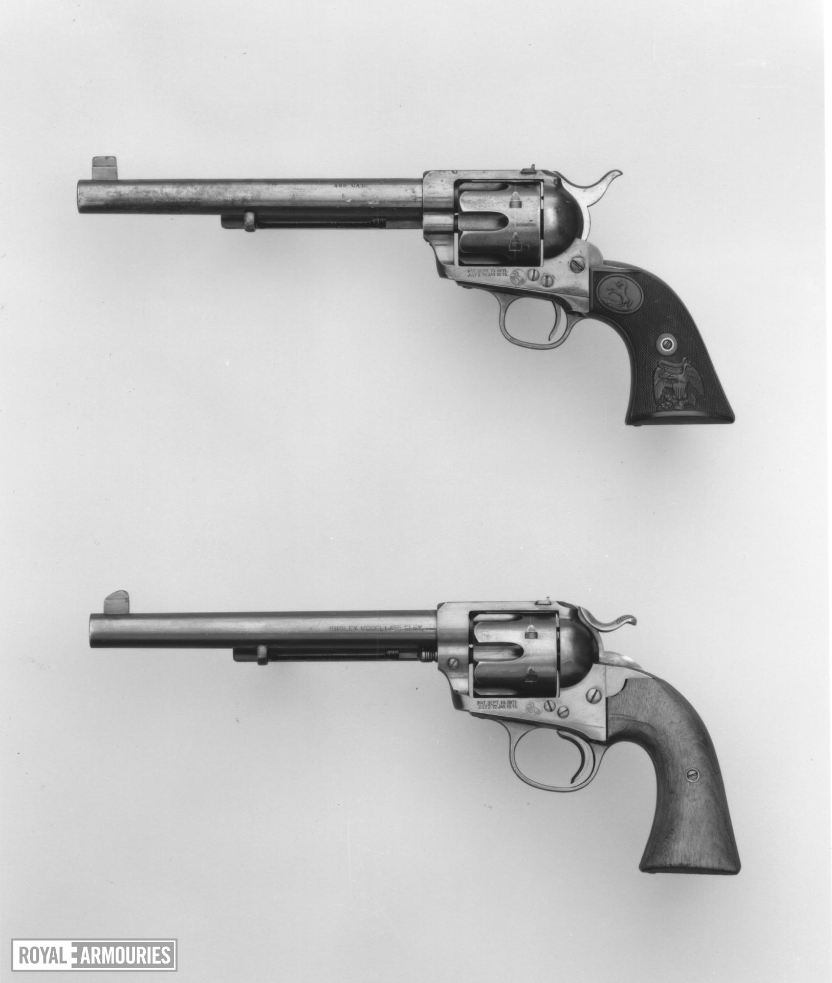 Centrefire six-shot revolver - Colt Single Action Army model 1873 (SAA)