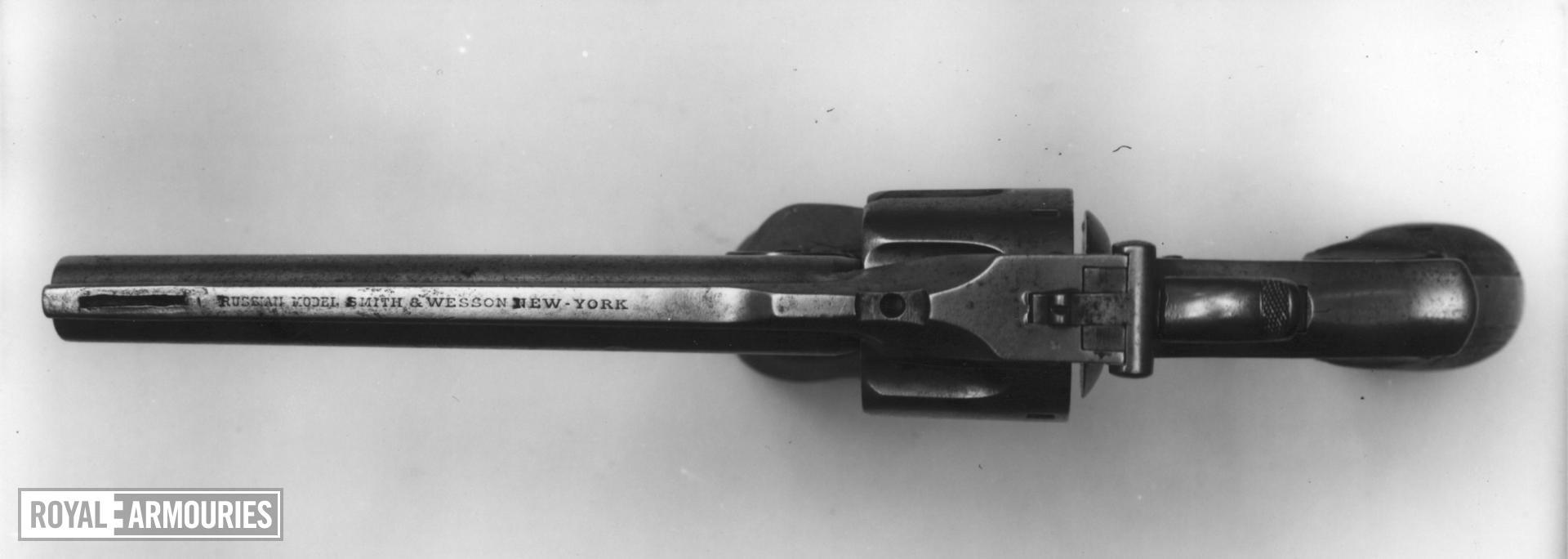 Rimfire six-shot revolver - Smith & Wesson New Model Russian copy