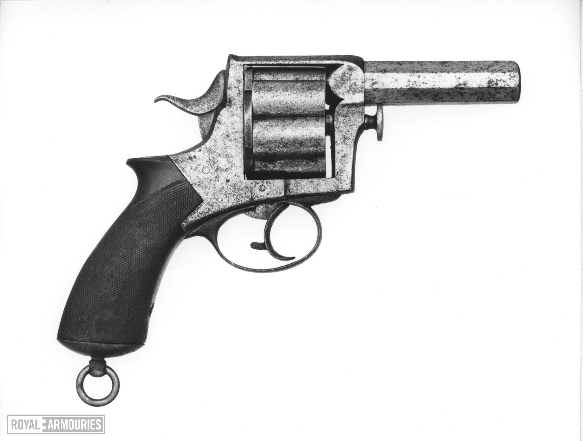 Centrefire six-shot revolver - Webley Solid Frame Model .577 Retailed by Manton & Co. London & Calcutta, India