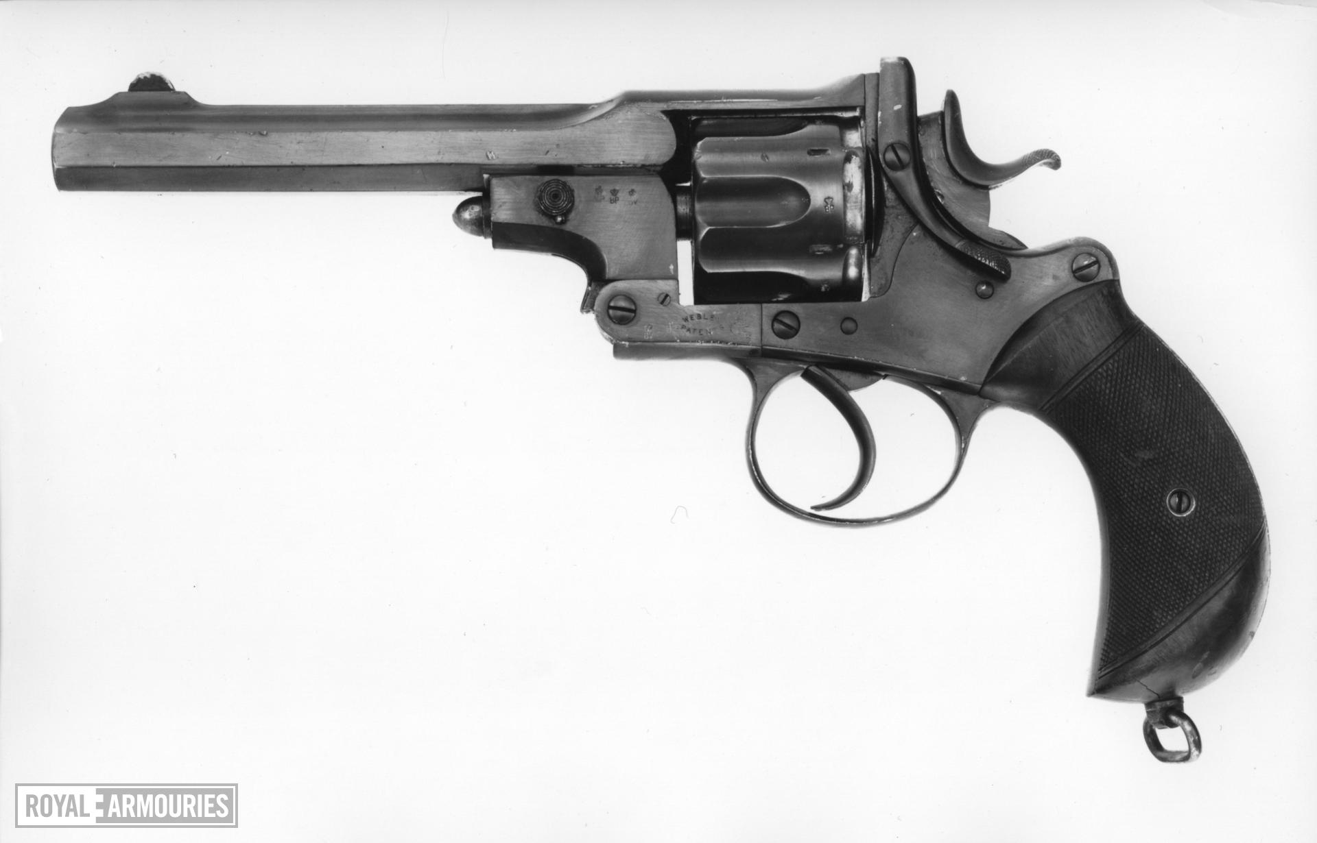 Centrefire six-shot revolver - Webley Improved Government Model, Third Pattern Webley Kaufmann Retailed by Army & Navy stores