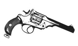 Thumbnail image of Centrefire six-shot revolver - Webley WG Army Model 1896, Webley-Green