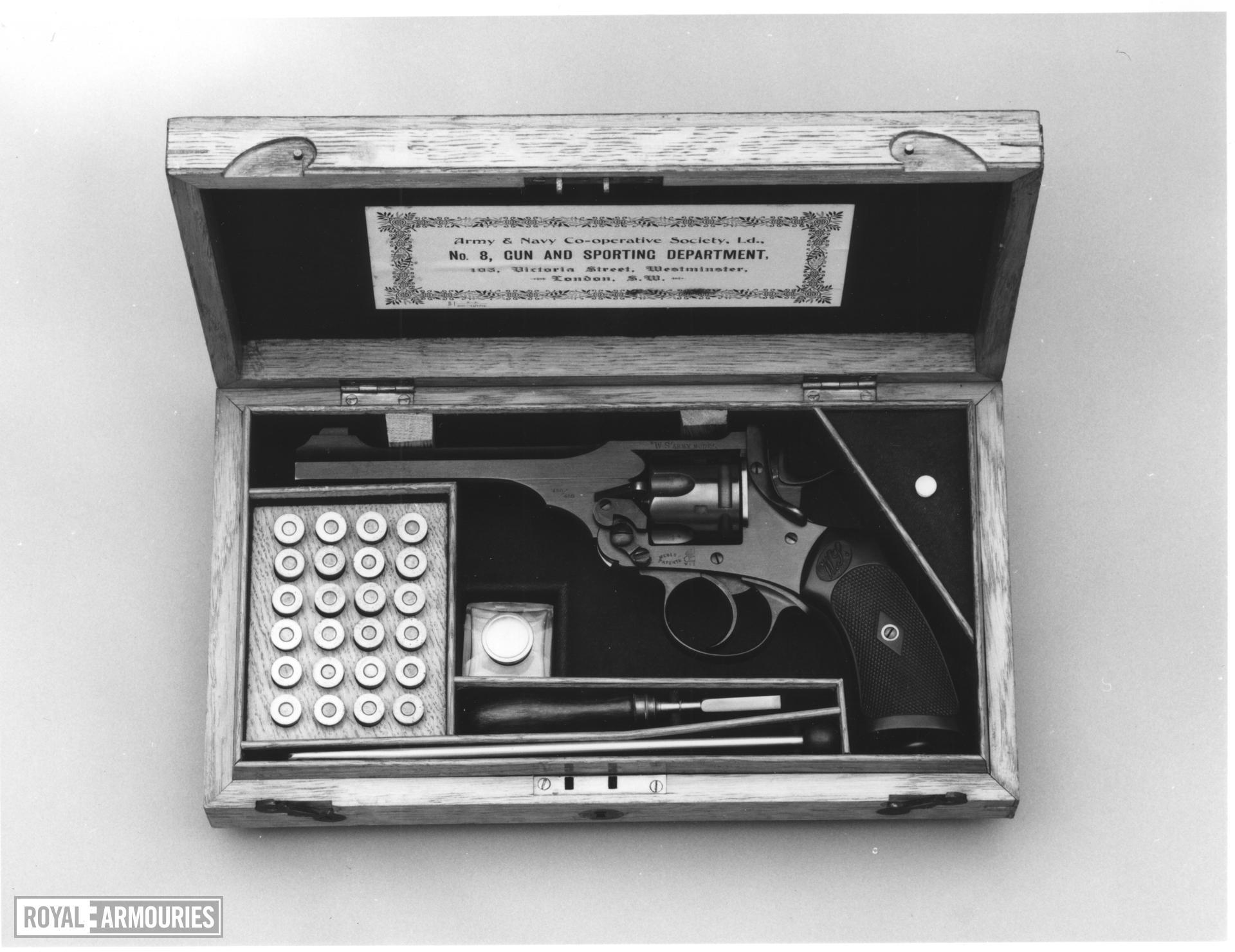 Centrefire six-shot revolver - Webley Model 1904