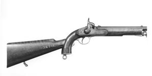 Thumbnail image of Percussion pistol - Enfield Pattern 1856 By J. Leadbeter; for the Yeomanry Cavalry