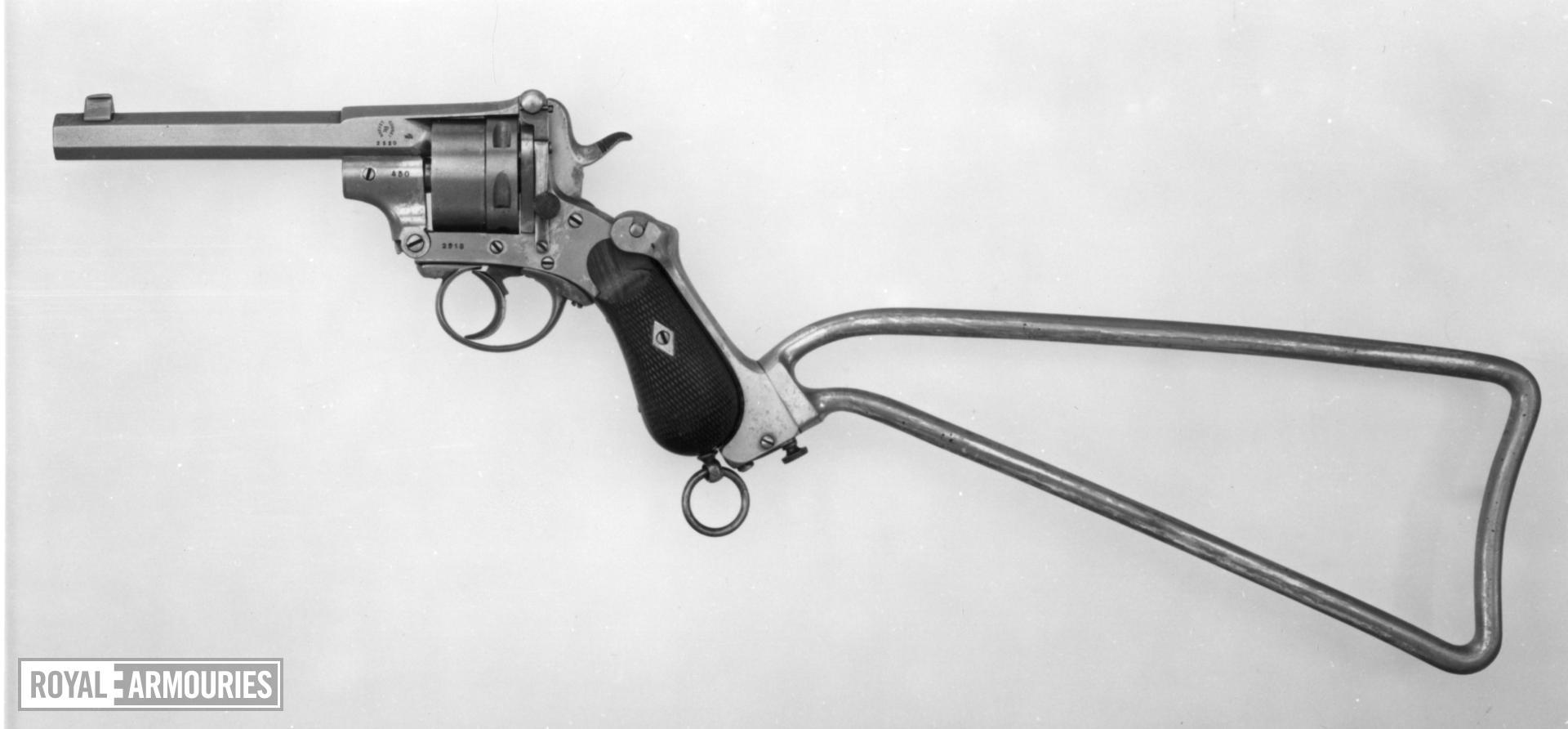 Centrefire five-shot revolver
