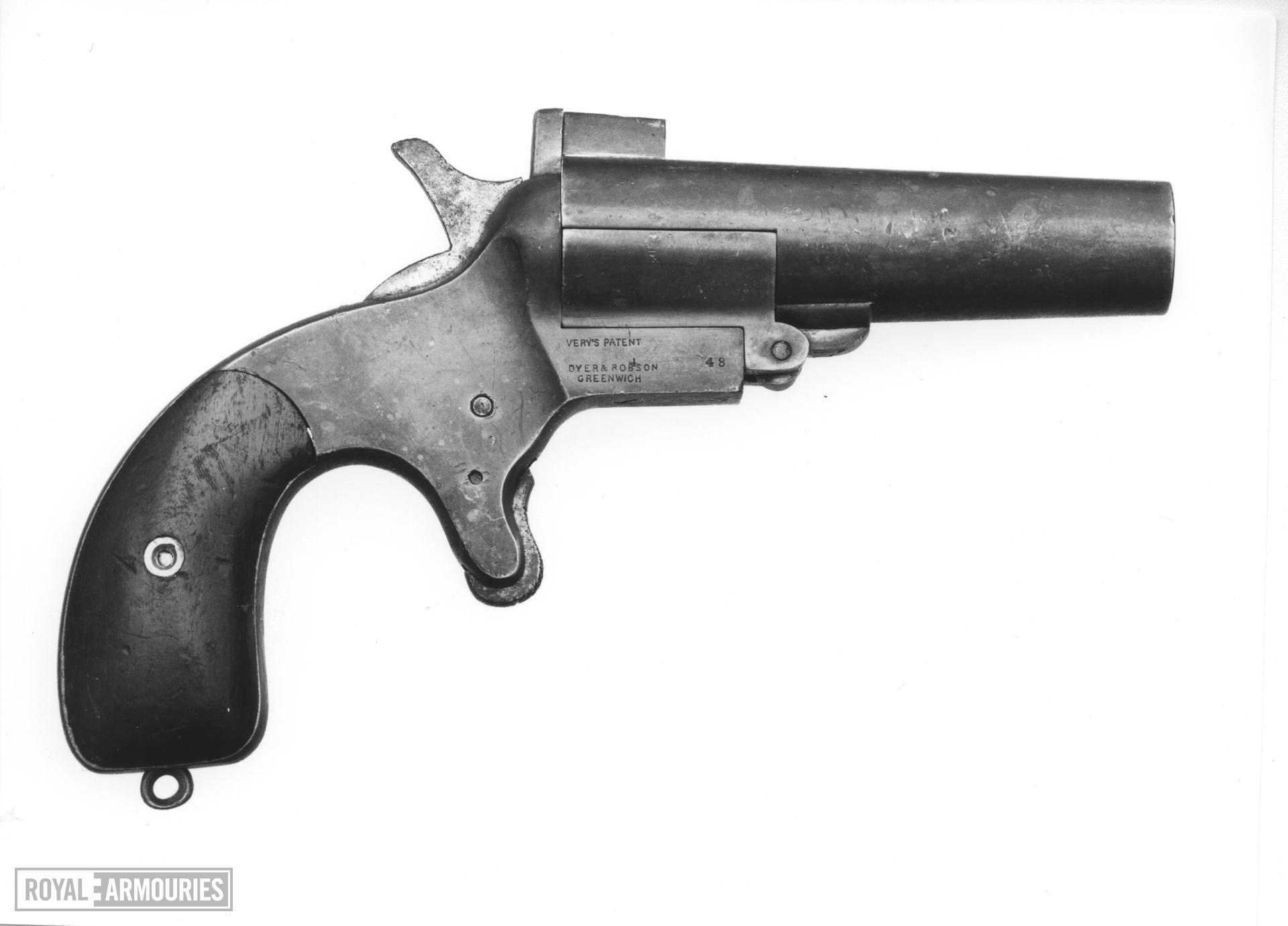 Centrefire breech-loading signal pistol - Dyer and Robinson Patent By Webley & Scott