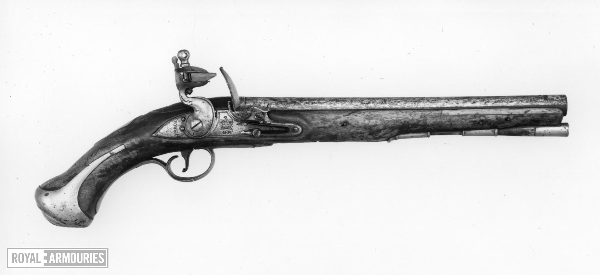 Flintlock military pistol - Heavy Cavalry Model For the 3rd Dragoon Guards