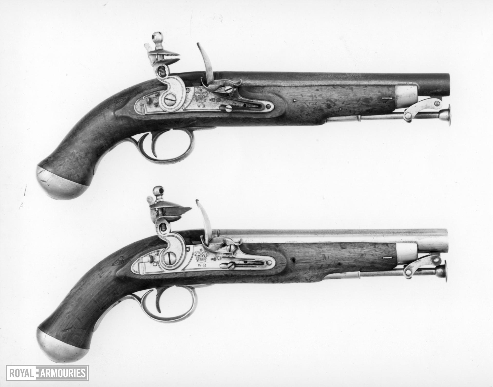 Flintlock military pistol - Paget Light Cavalry Pattern