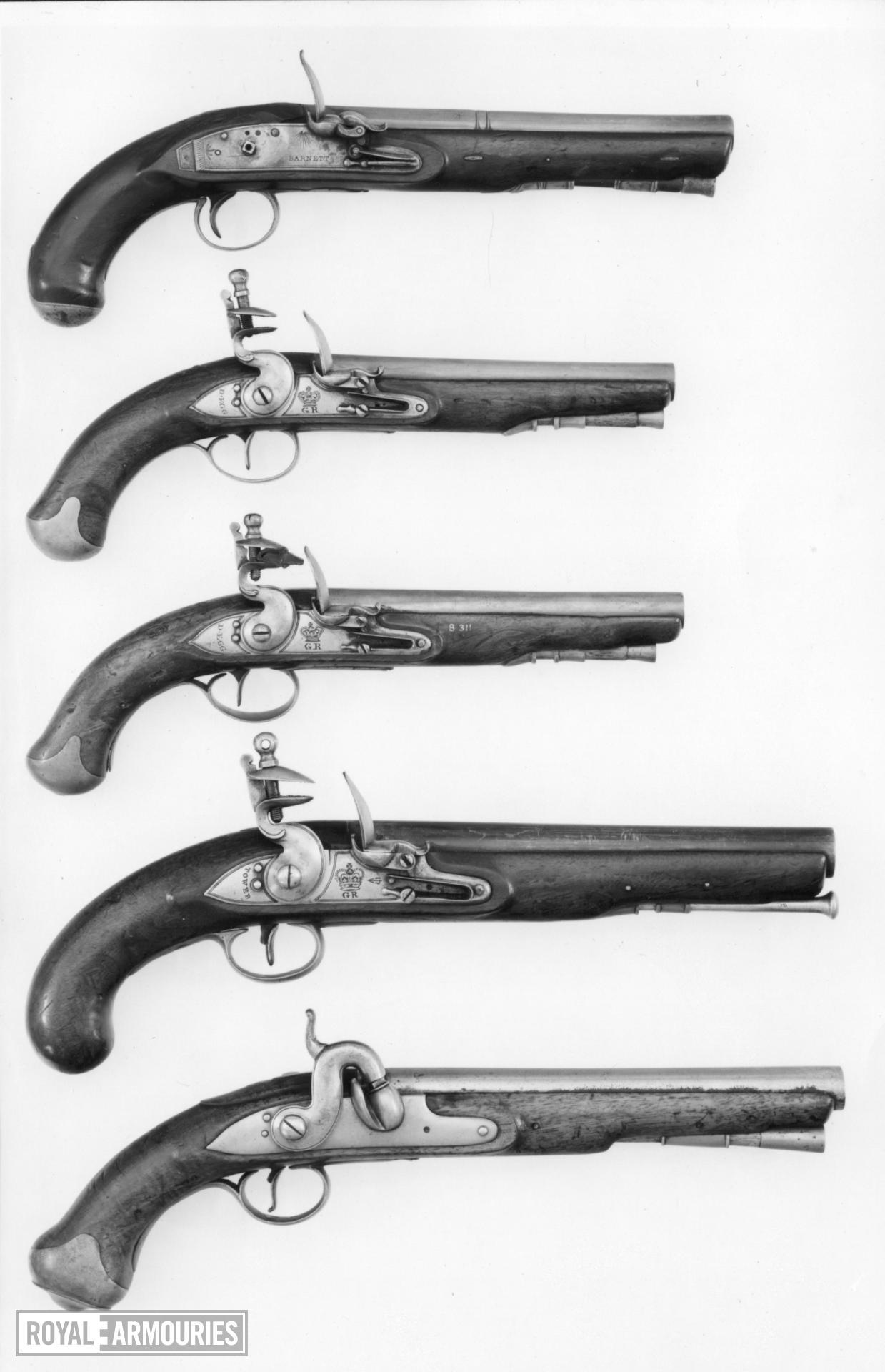 Flintlock muzzle-loading pistol - By Barnett