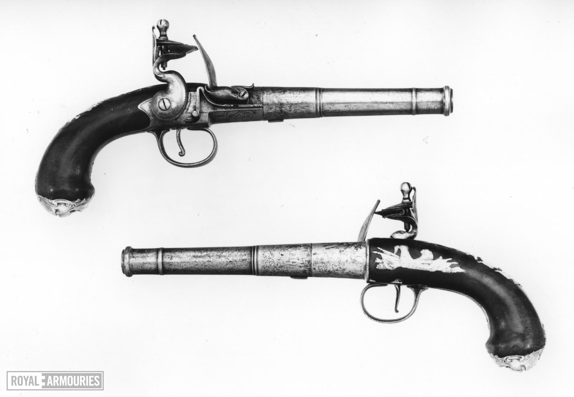 Flintlock pistol By Robert Wilson One of a pair see XII.1706