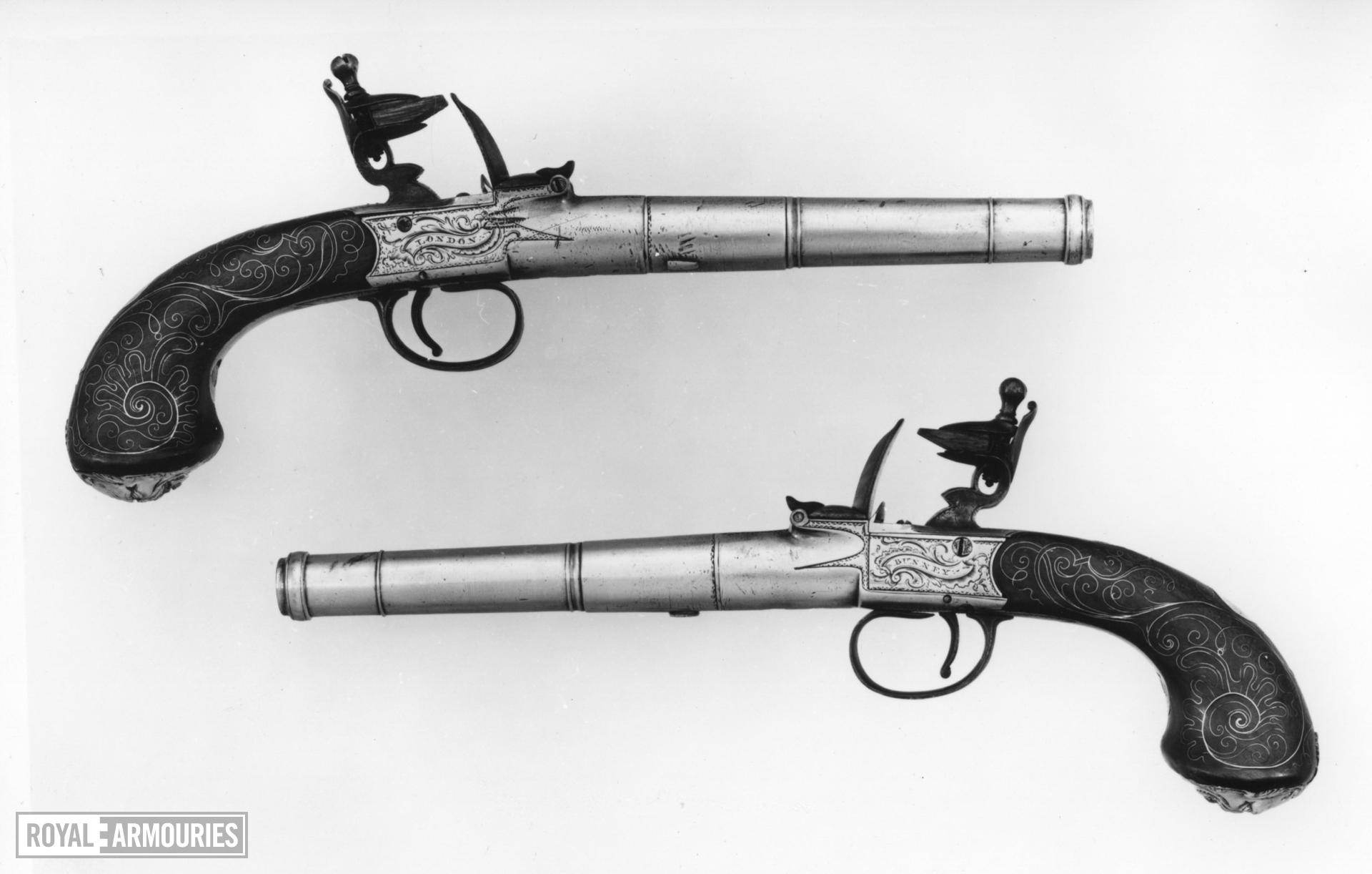 Flintlock Pistol By Bunney One of a pair see XII.1714