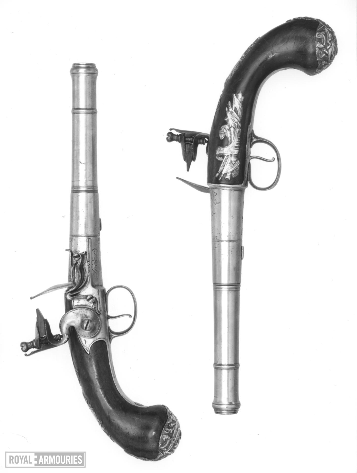 Flintlock pistol By Joseph Loder One of a pair see XII.1652 (Queen Anne)