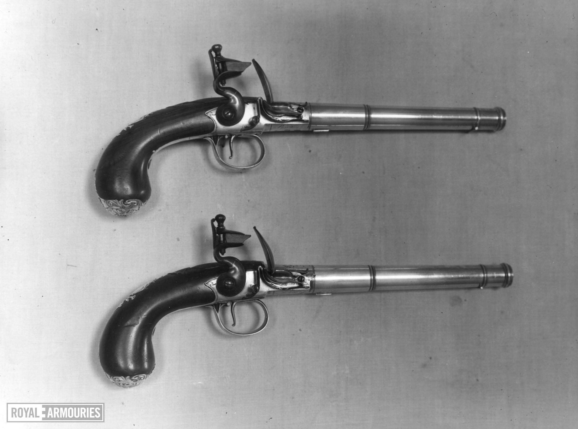 Flintlock pistol By Blythe One of a pair; see XII.1376