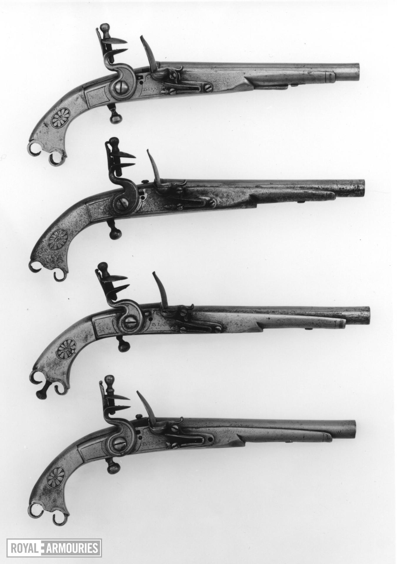 Flintlock military pistol - Scottish regimental pattern