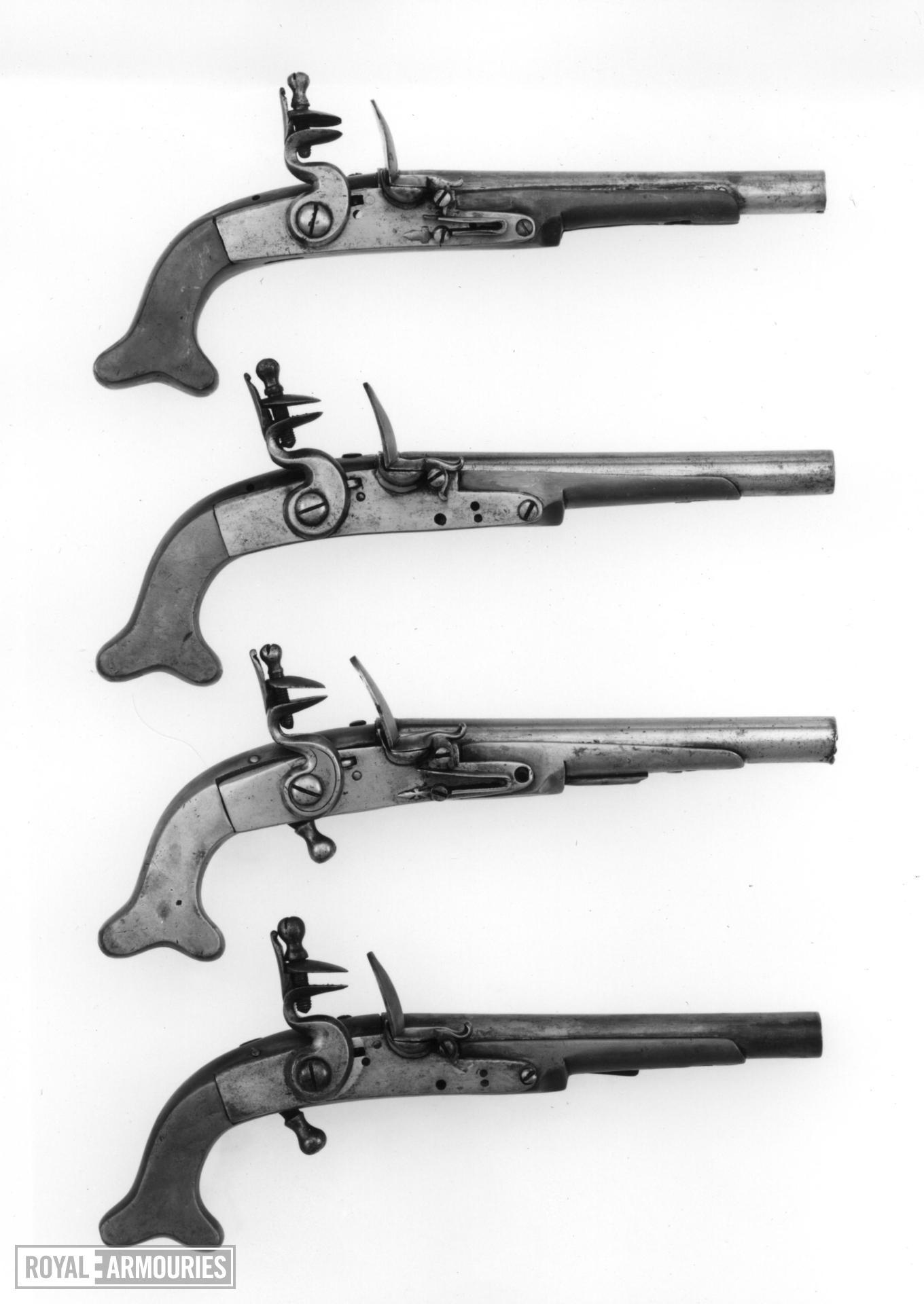 Flintlock military pistol