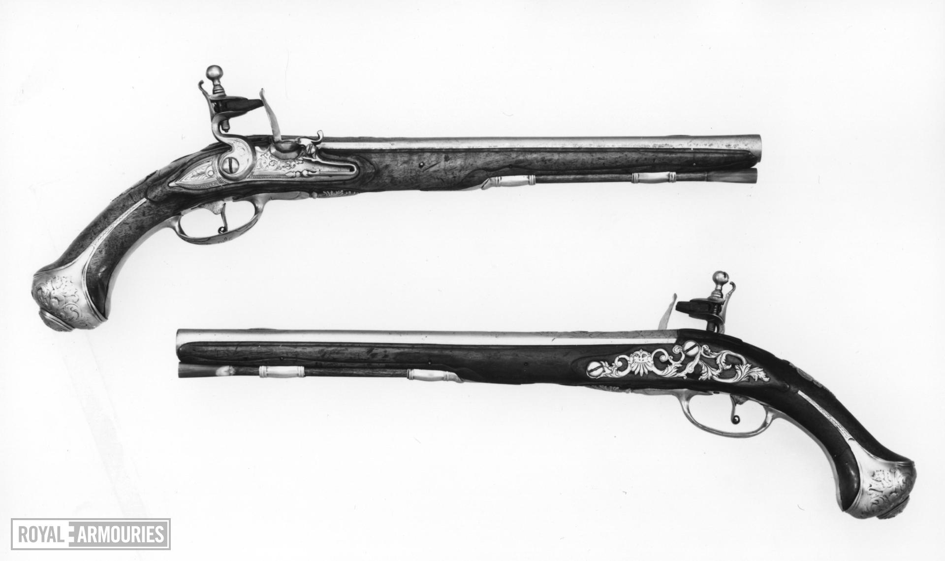 Flintlock military pistol