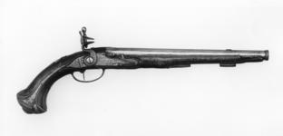Thumbnail image of Flintlock holster pistol By Huart