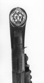 Thumbnail image of Flintlock pocket pistol By Claborough One of a pair; see XII.1724