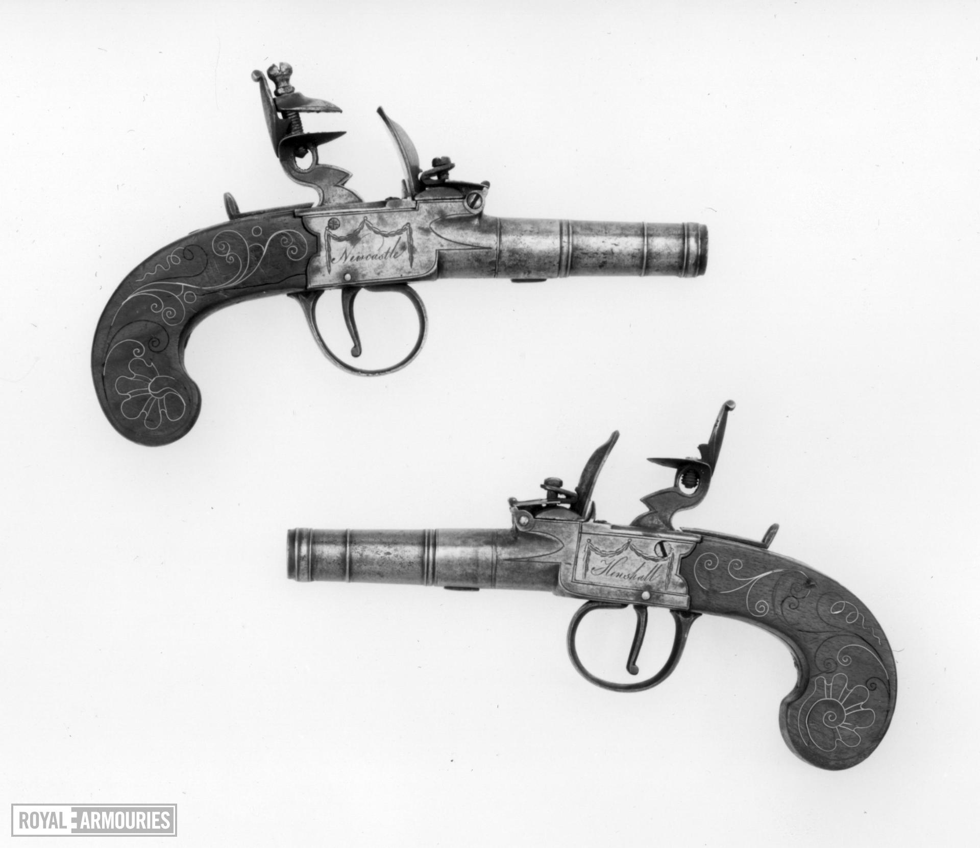 Flintlock pocket pistol