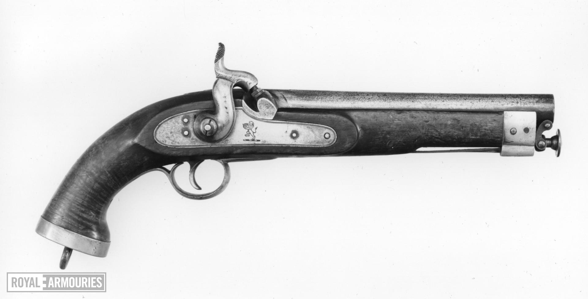 Percussion military pistol East India Company Cavalry model