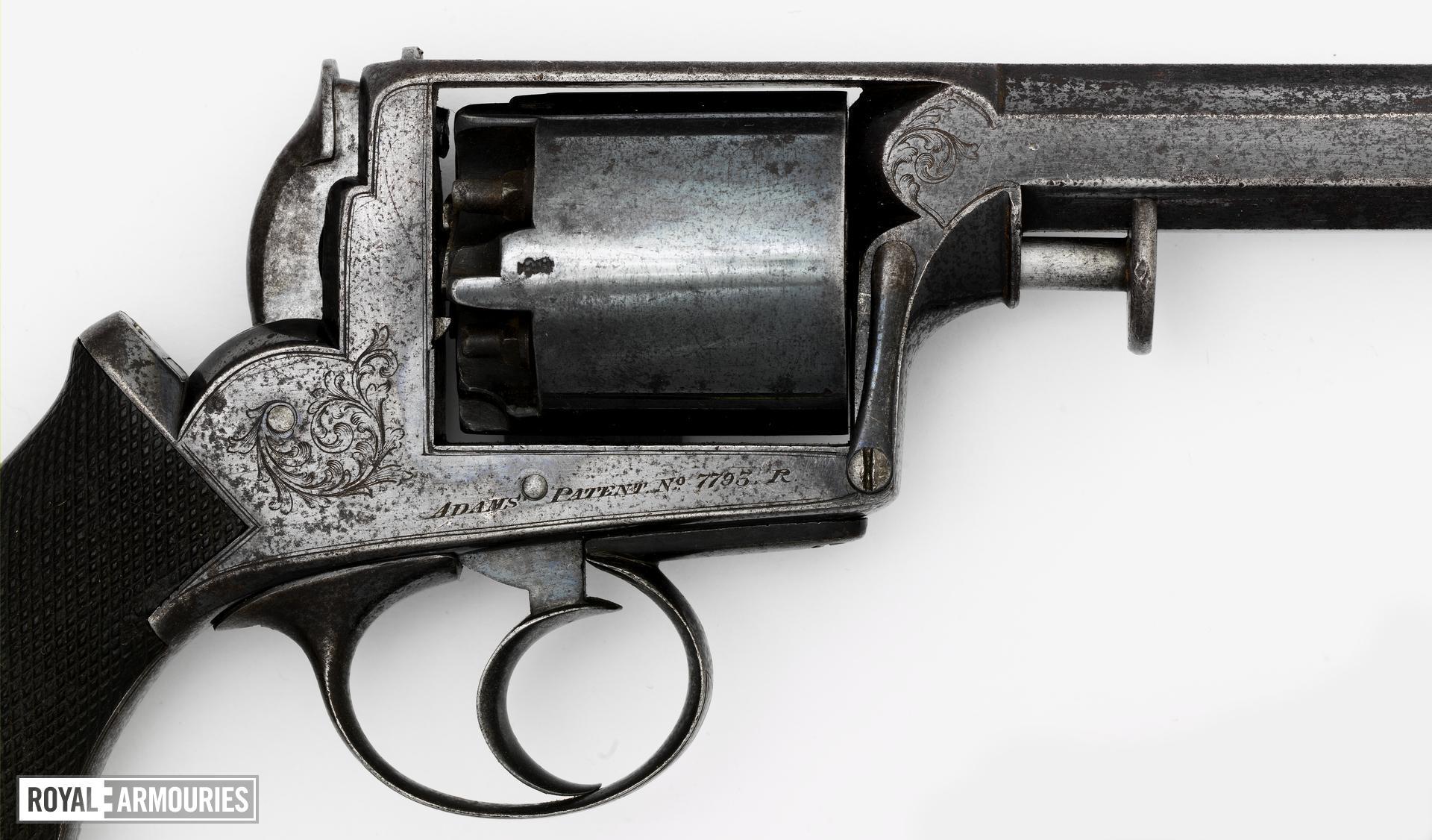 Percussion five-shot revolver - Adams Model 1851