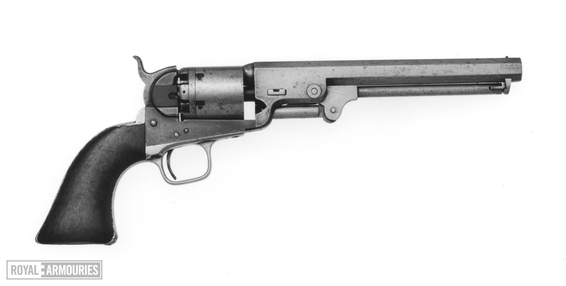 Percussion six-shot revolver - Colt Navy Model 1851