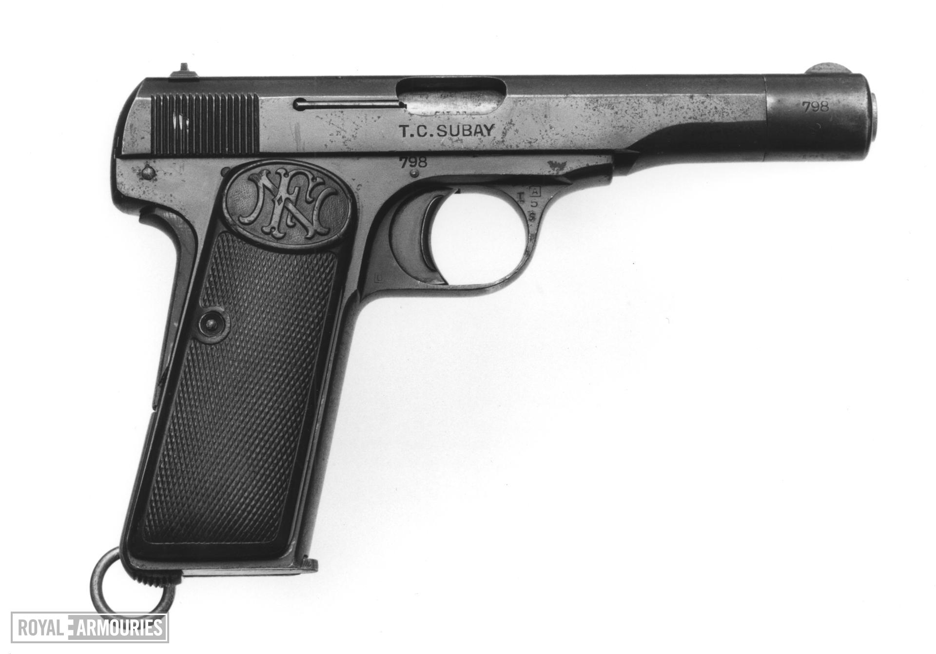 Centrefire self-loading pistol - Browning Model 1910/22