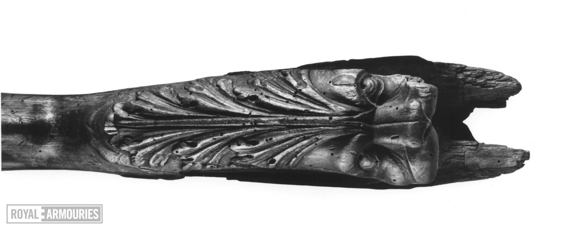 Flintlock firework gun - N/A The breech end of the stock is carved in high relief as a monster's head.