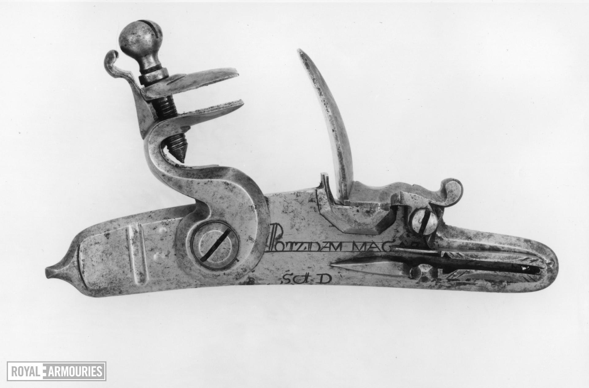 Detached flintlock lock - By Potzdam armoury
