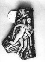 Thumbnail image of Powder flask Of stag-antler design by Peter Flotner