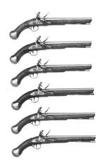 Thumbnail image of Flintlock military pistol - Sea Service Pattern With 12 inch barrel