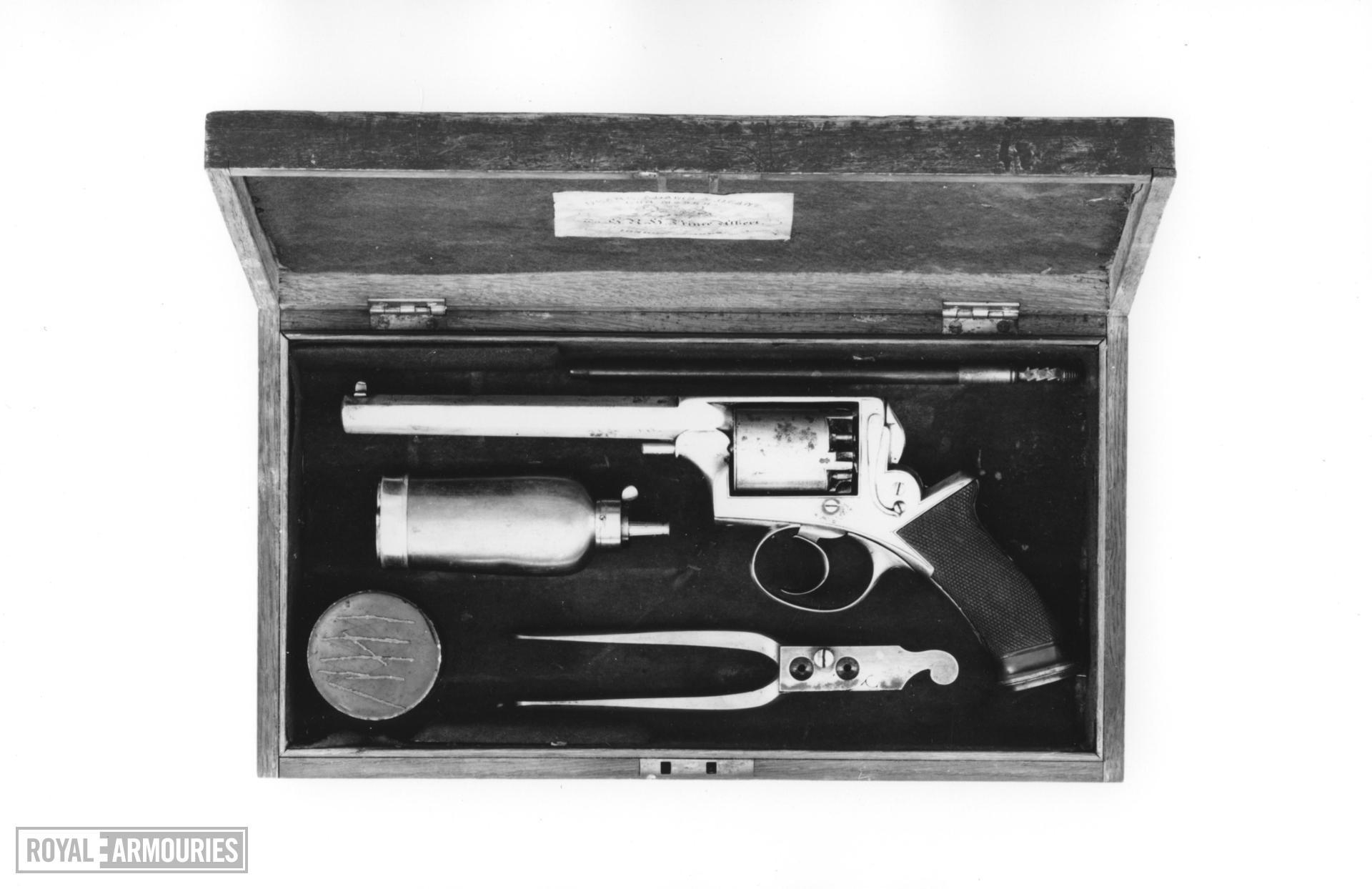 Percussion five-shot revolver - Deane Adams and Deane Model 1851 Cased