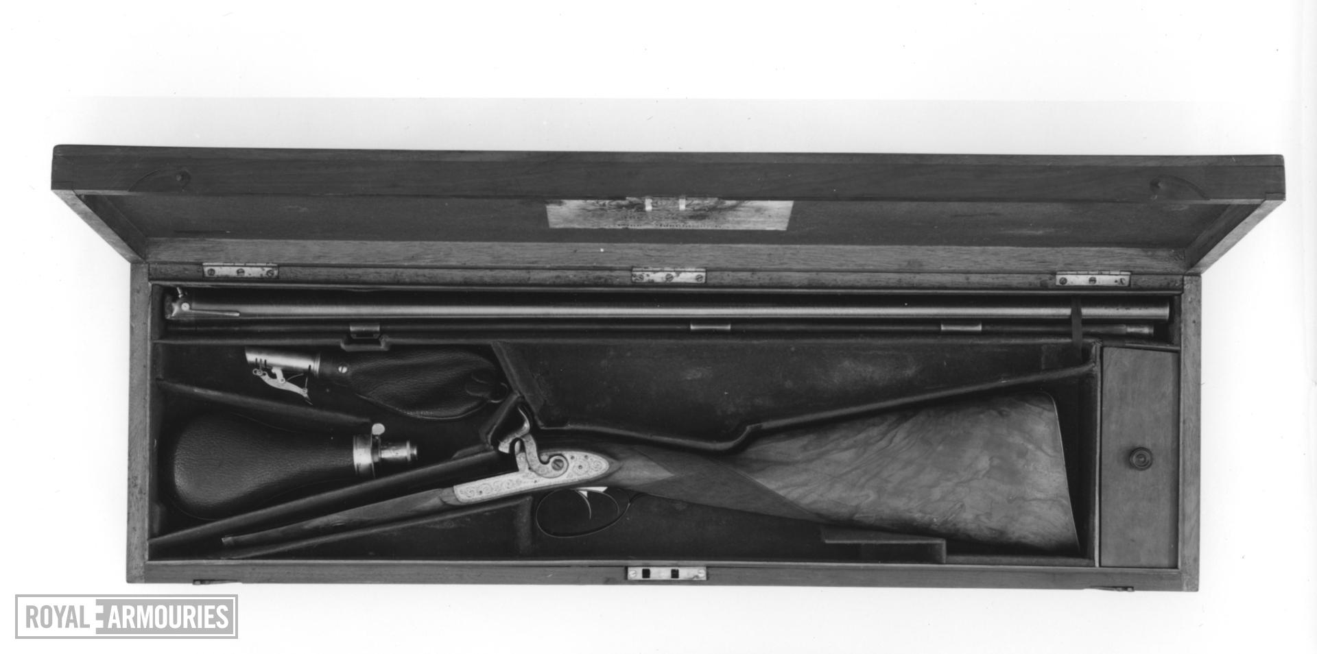 Percussion double-barrelled shotgun - By J. Purdey