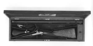 Thumbnail image of Percussion double-barrelled shotgun - By J. Purdey Cased