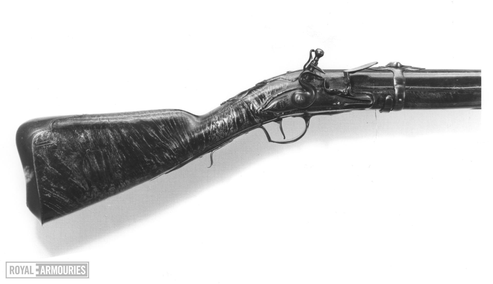 Flintlock sporting gun - By John Shaw