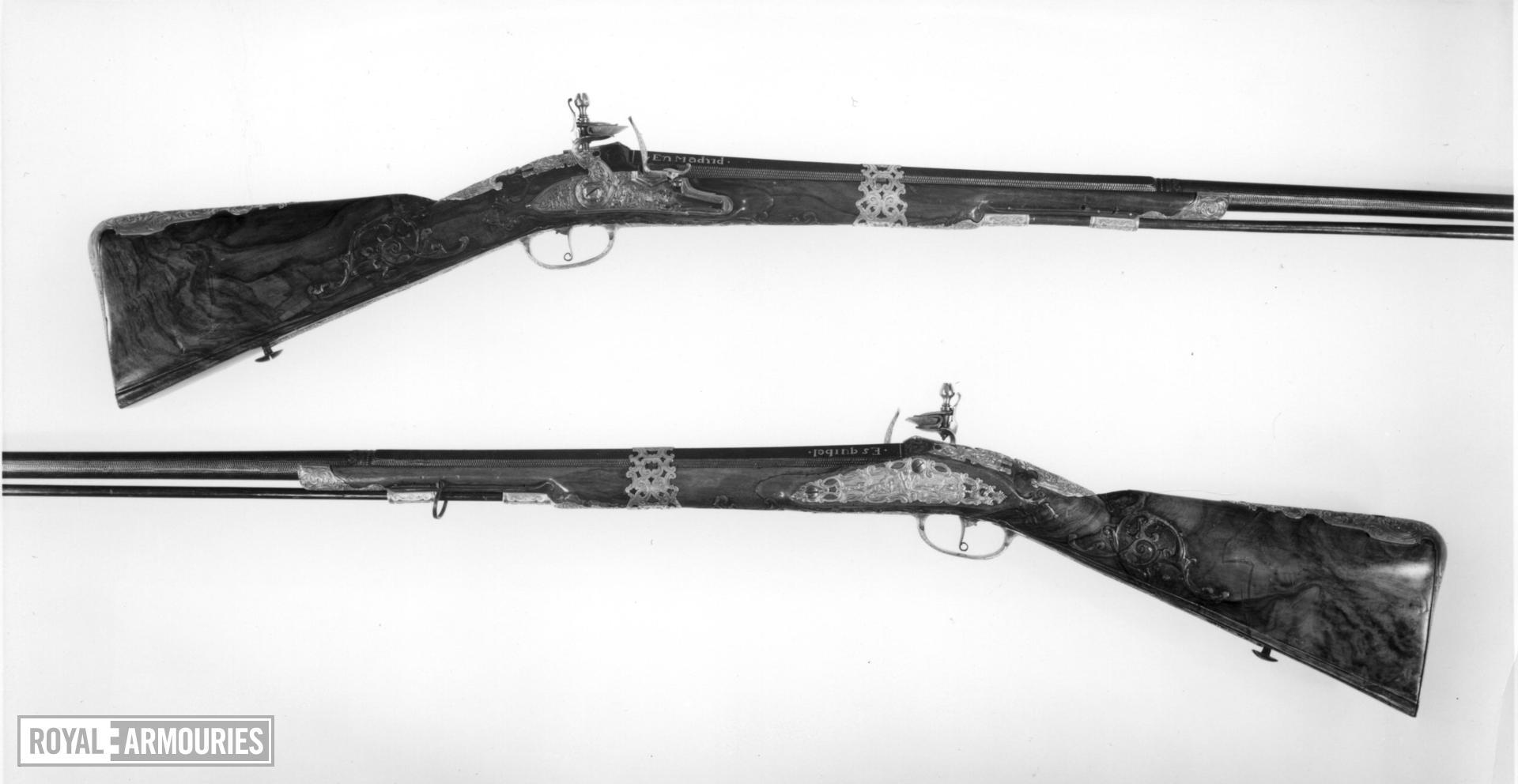 Flintlock sporting gun - By Marcus Zelner