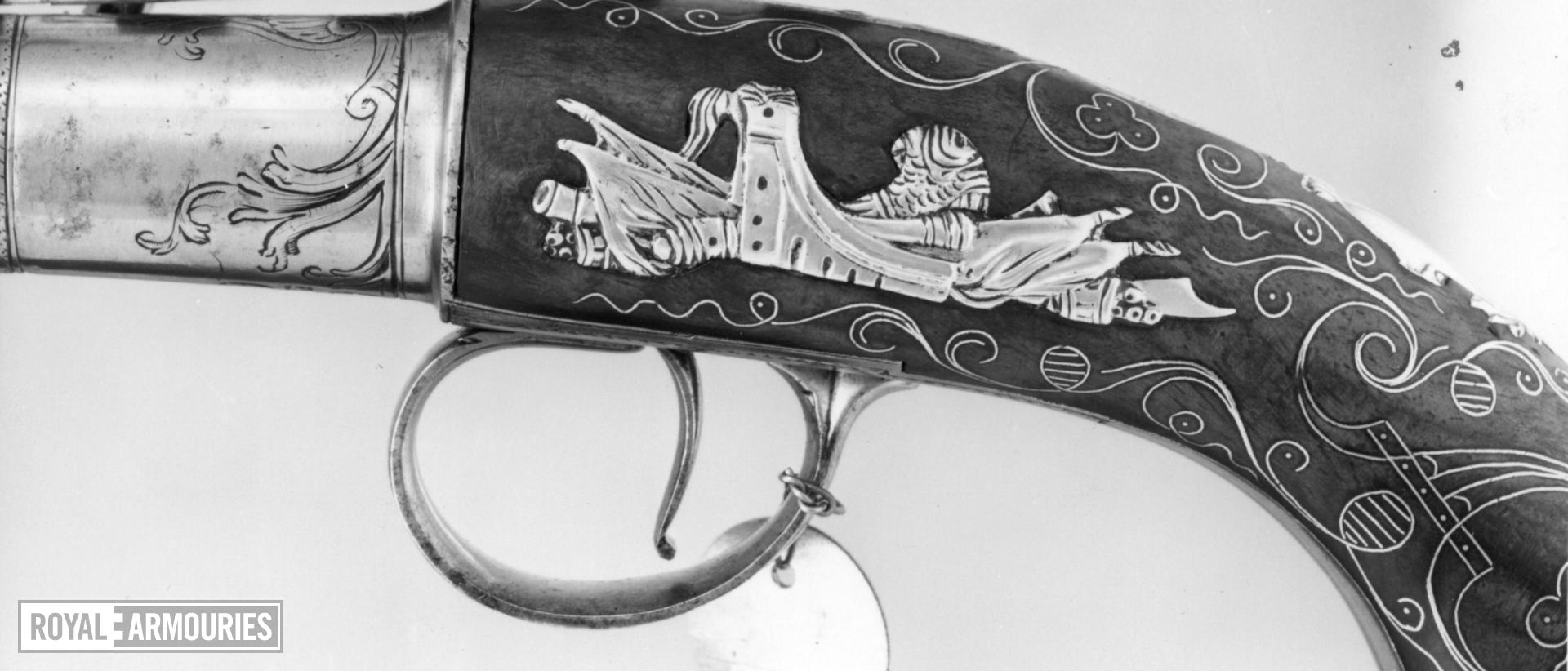 Flintlock pistol By T. Richards One of a pair; see XII.1654