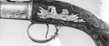 Thumbnail image of Flintlock pistol By T. Richards One of a pair; see XII.1654
