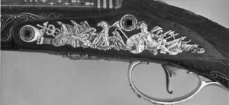Thumbnail image of Flintlock holster pistol By Henry Hadley One of a pair see XII.1646.  Probably made for Charles, 3rd Duke of Marlborough, 1706-1758, or for George, Fourth Duke of Marlborough