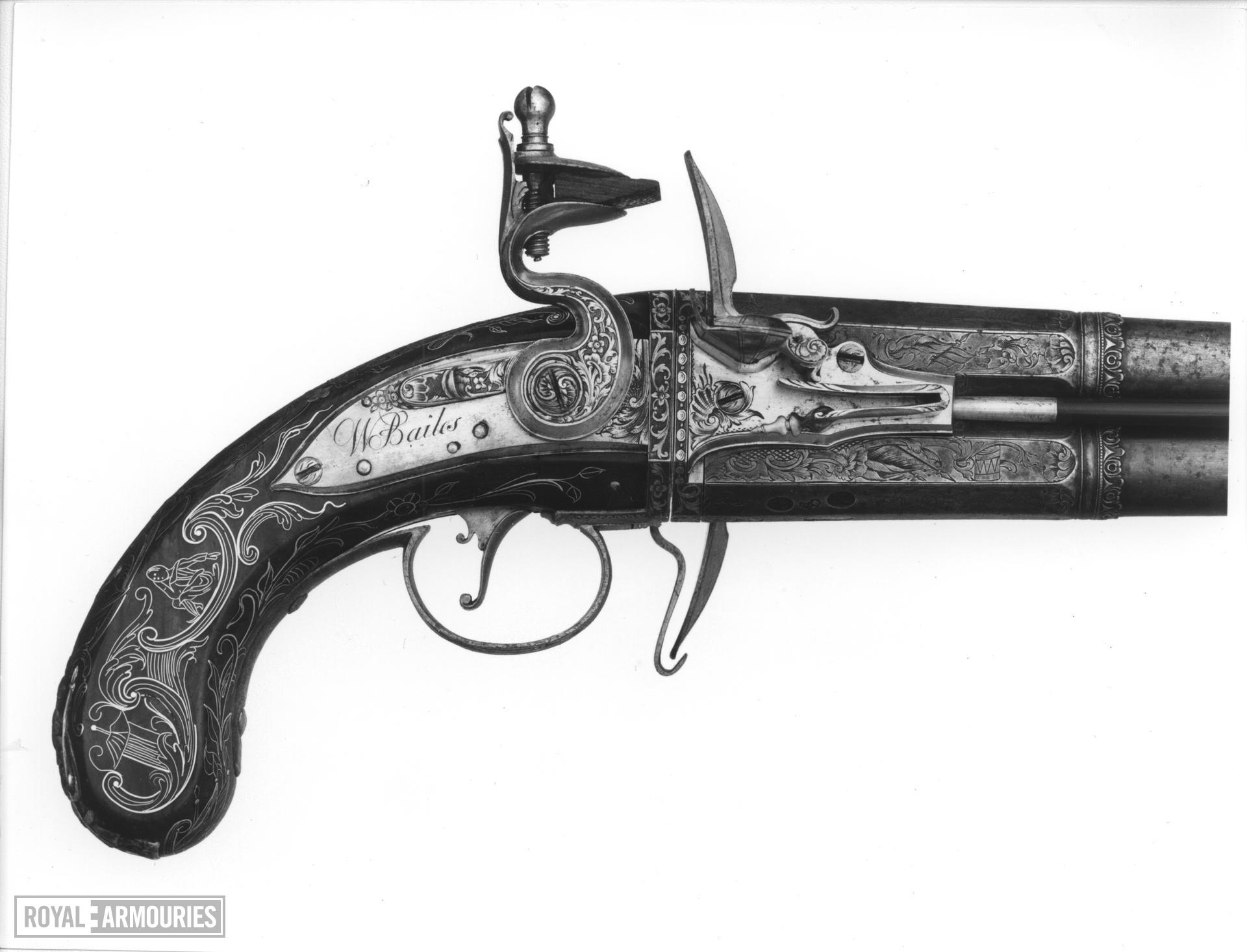 Flintlock holster pistol By Bailes One of a pair see XII.1650