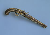 Thumbnail image of Flintlock holster pistol Made in England for the Eastern market One of a pair see XII.1238